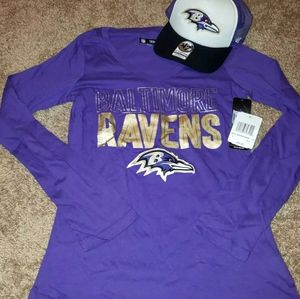 Baltimore ravens shirt and hat